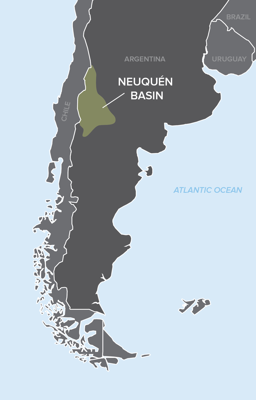 Nuequen Formation Map